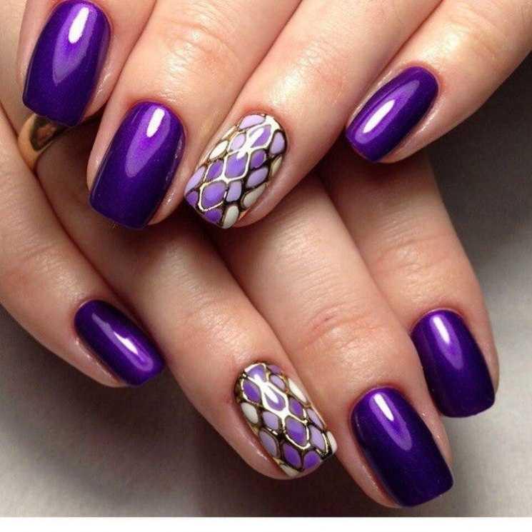 Фиолетовый маникюр - фото самых роскошных вариантов применения маникюра в фиолетовых тонах и оттенках