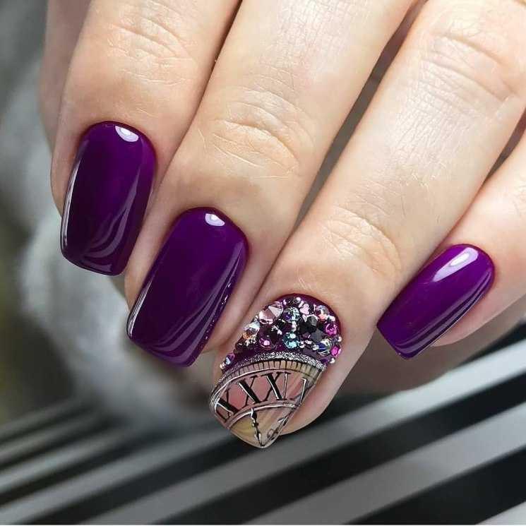 Фиолетовый маникюр - 125 фото самых роскошных вариантов применения маникюра в фиолетовых тонах и оттенках