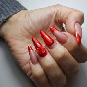 Красный маникюр — 135 фото идей классического и современного дизайна. Советы по применению и обзор лучших сочетаний