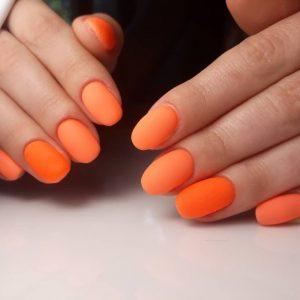 Оранжевый маникюр: идеи яркого дизайна и новинки 2019 года. 135 фото и видео варианты применения оранжевого в маникюре