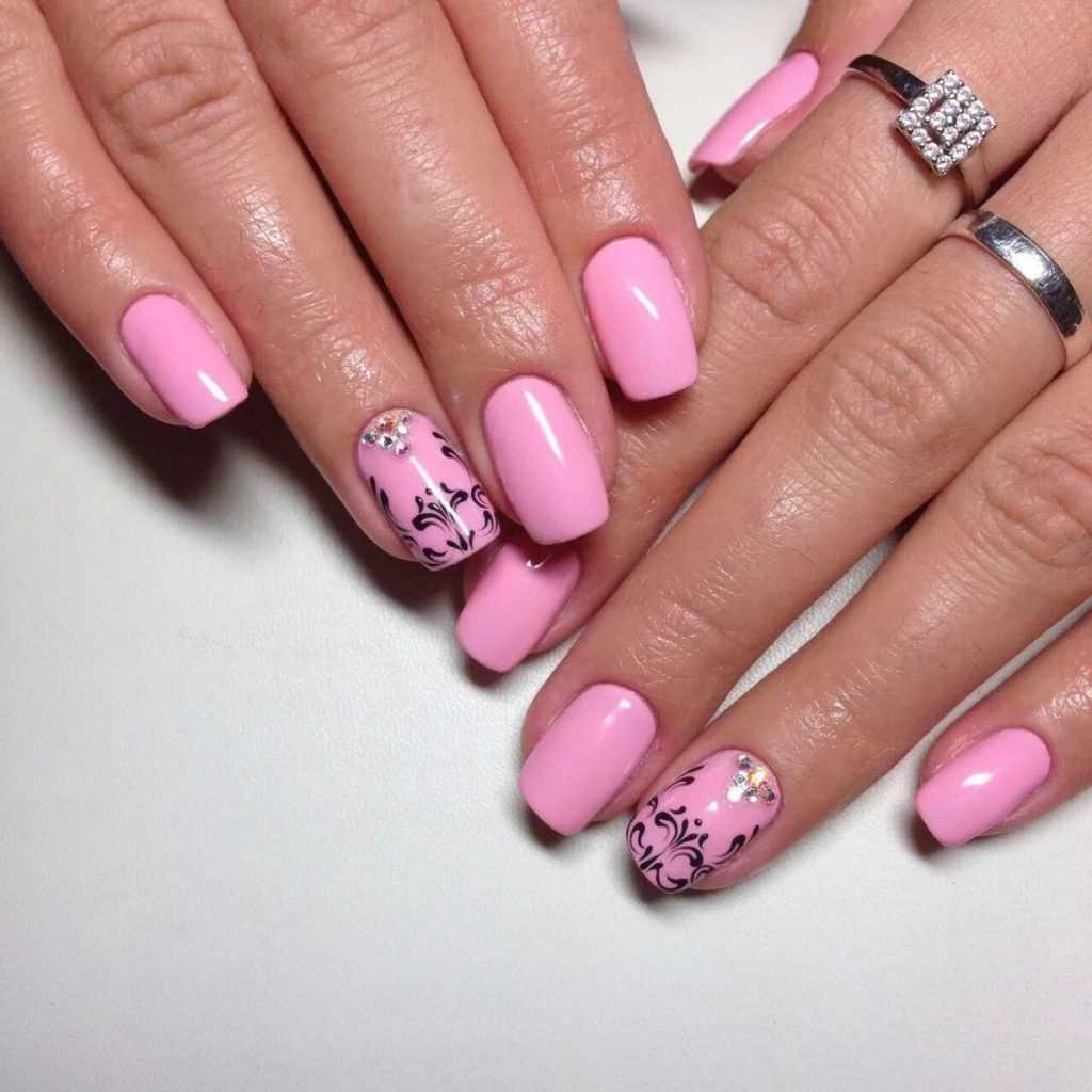 Маникюр картинки розовый цвет
